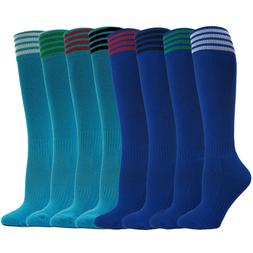 Youth Soccer Socks Boys Girls Knee High Athletic Socks Footb