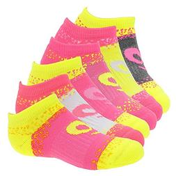 ASICS Youth Splatter No Show Yellow Ribbon Socks, Medium, Gi