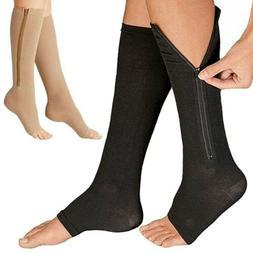 Zipper Compression Leg Calf Swelling Sock Premium open Toe 2